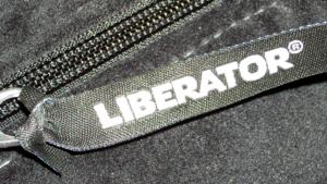 Liberator tab on Tristan Velvish Toy Bag
