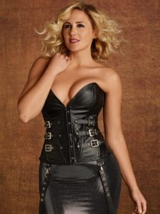 Hips & Curves Plus Size Callista Steel Boned Corset With Buckles