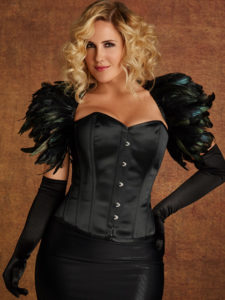 Hips & Curves Plus Size Black Raven Cape
